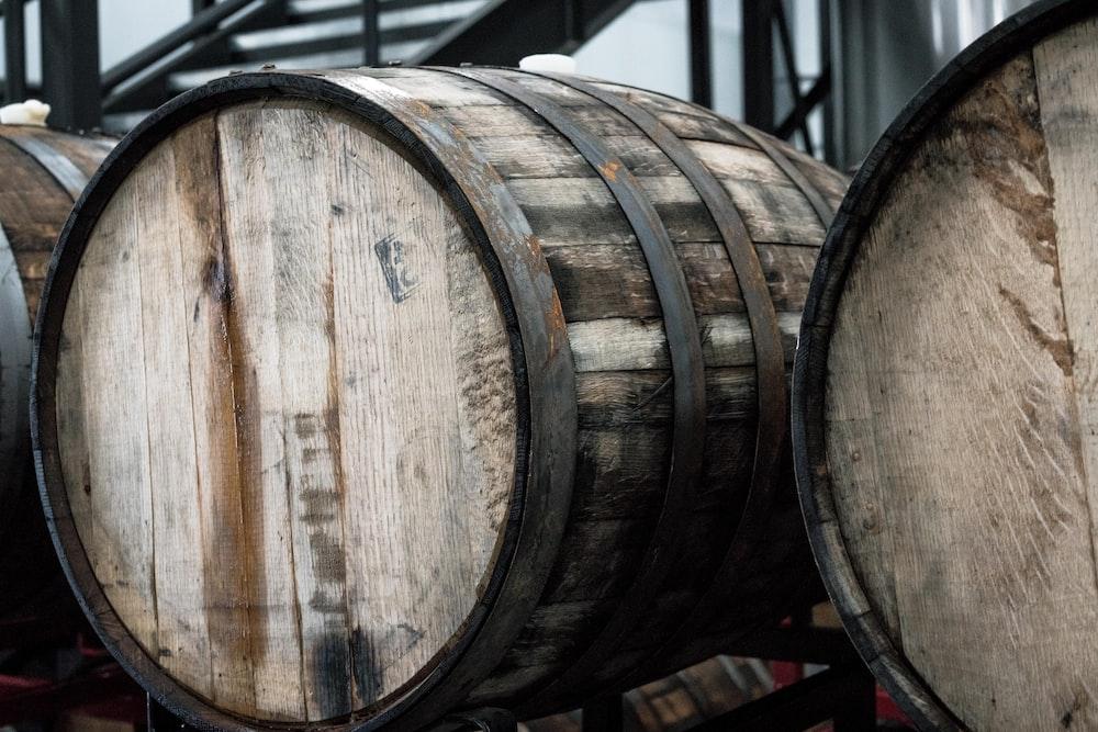 brown wooden barrel