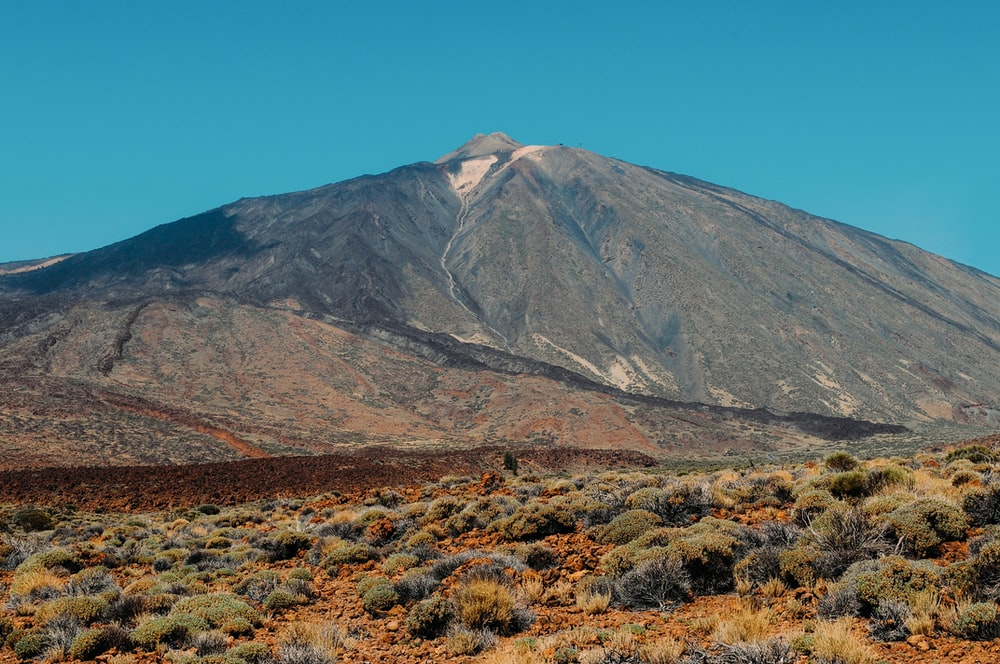 gray and brown mountain