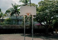 white basketball hoop outdoor