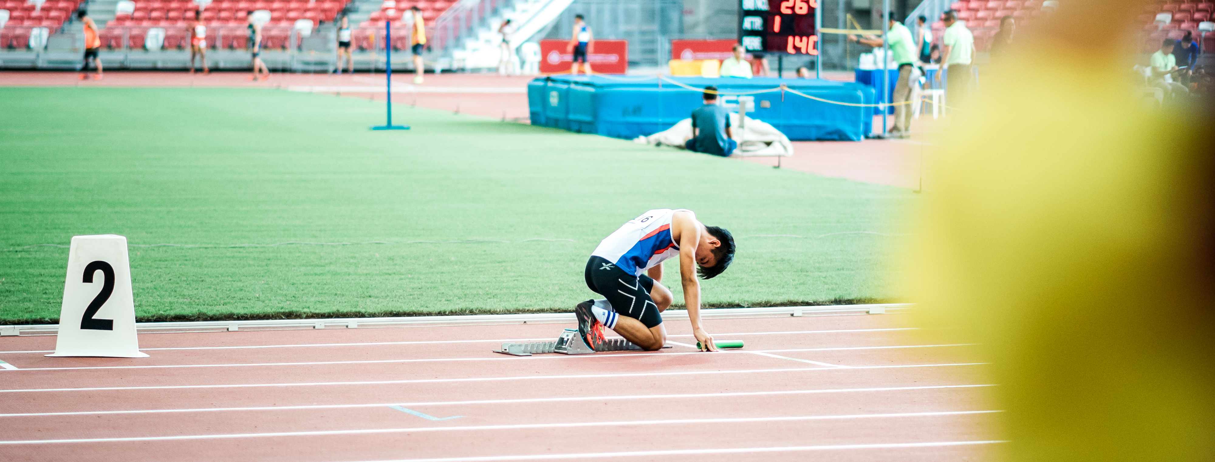 man about to run track and field