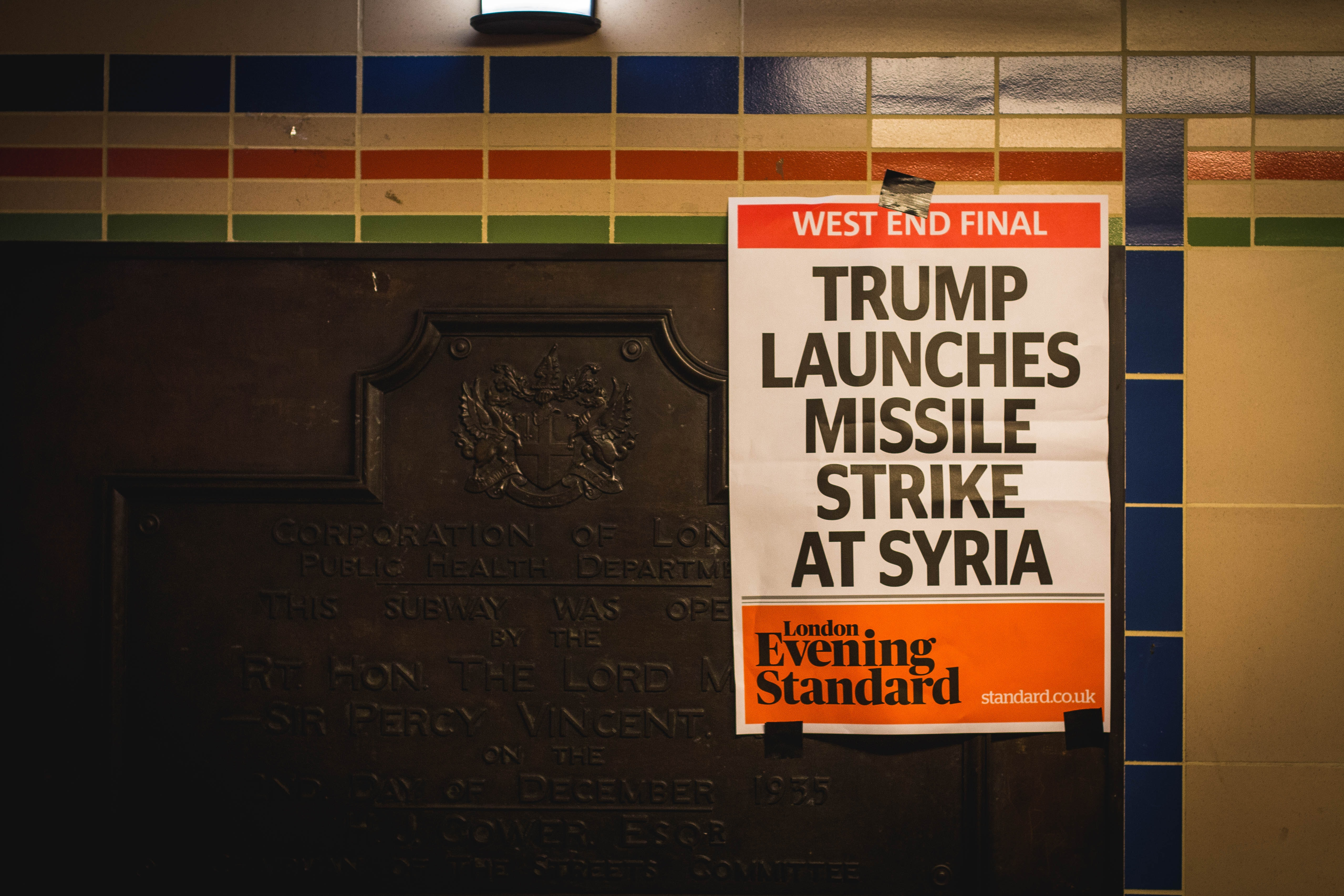 Trump Launches Missiles Strike At Syria poster