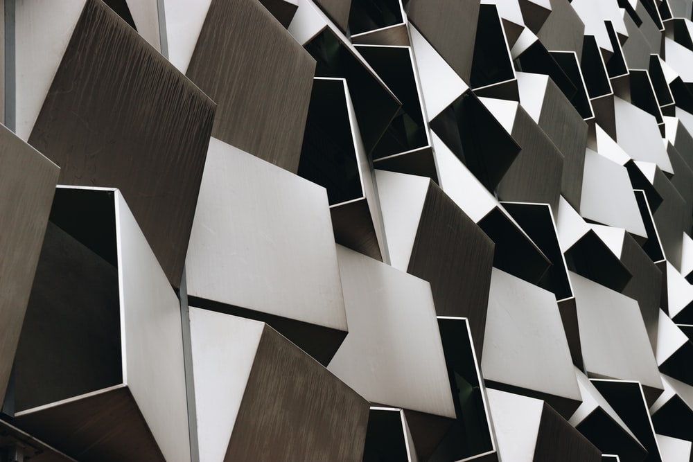brown and black wall decor