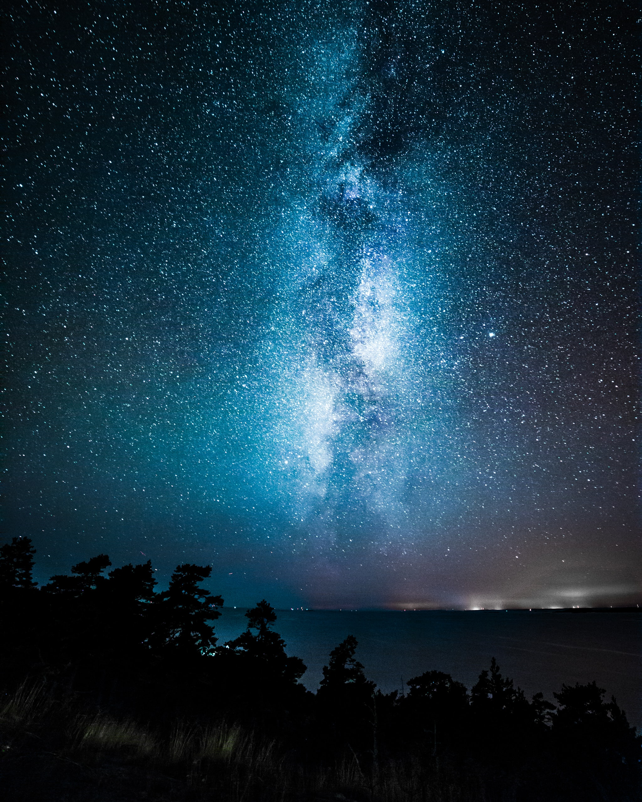 silhouette photography of Milky Way during nighttime