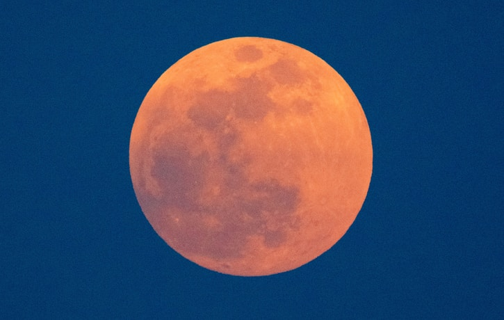 photo of bloody red moon