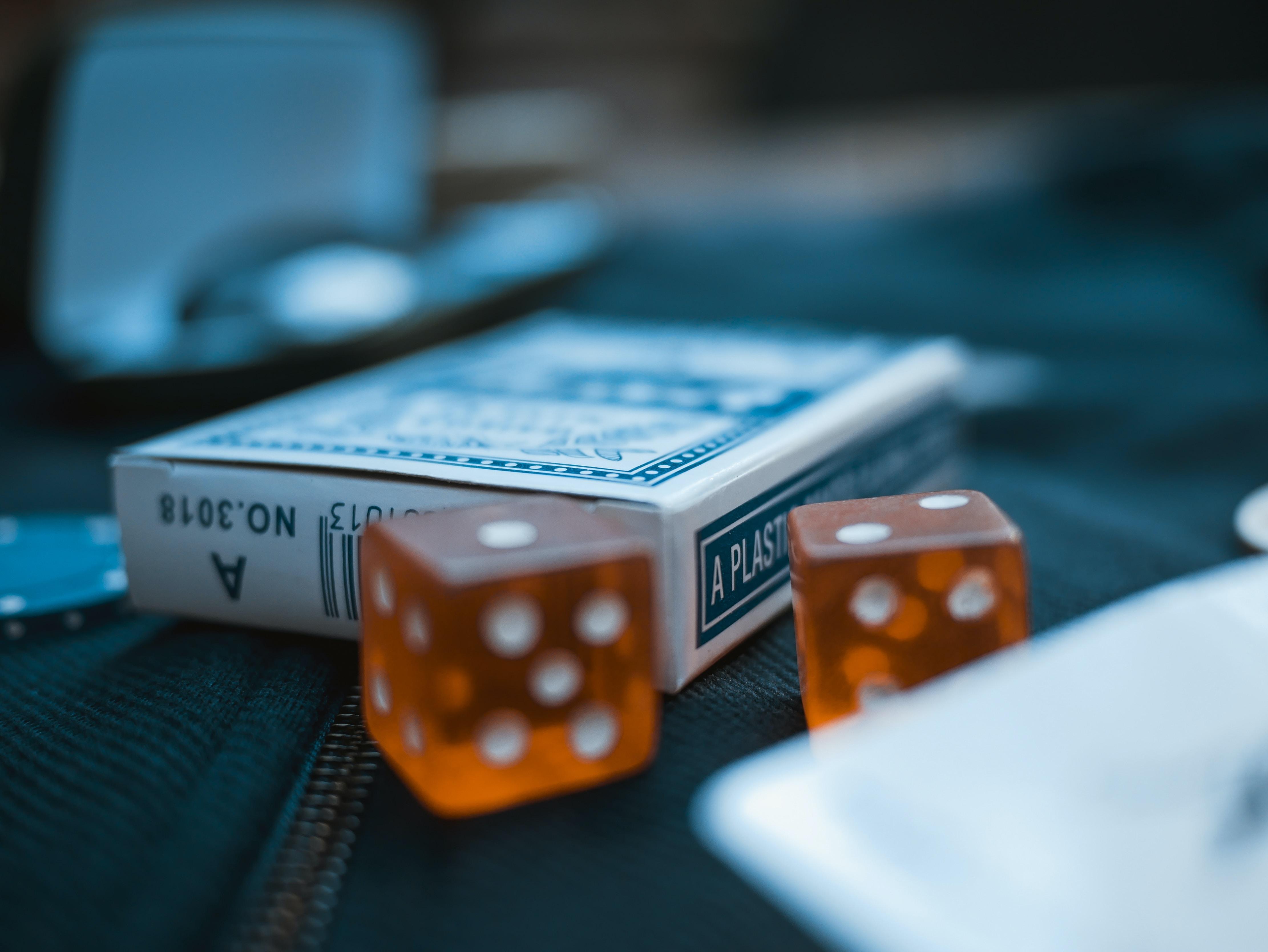two orange dices