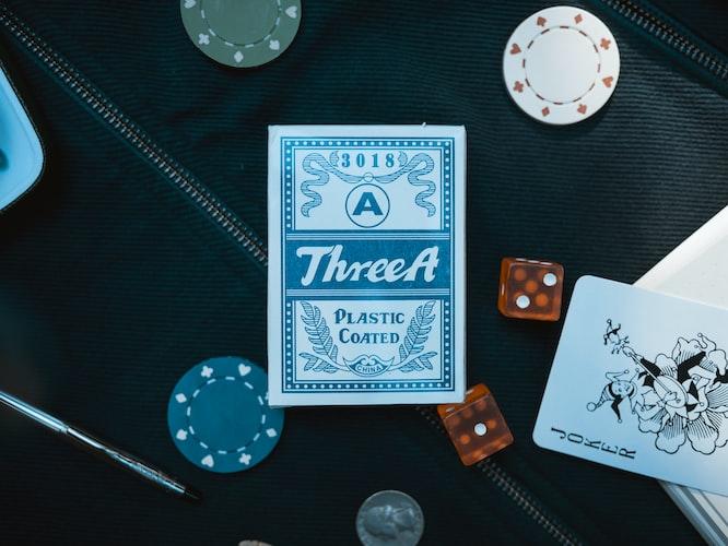 Casino coin and Joker card