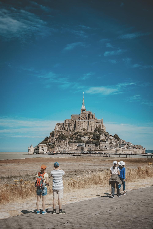 landscape photo of citadel under blue sky