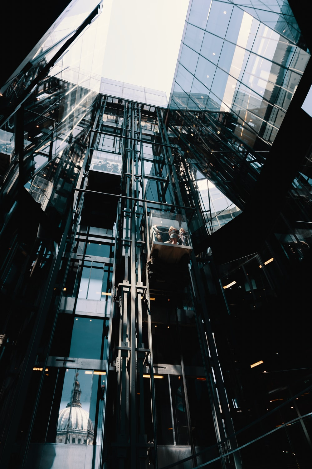 low angle photography of curtain wall at daytime