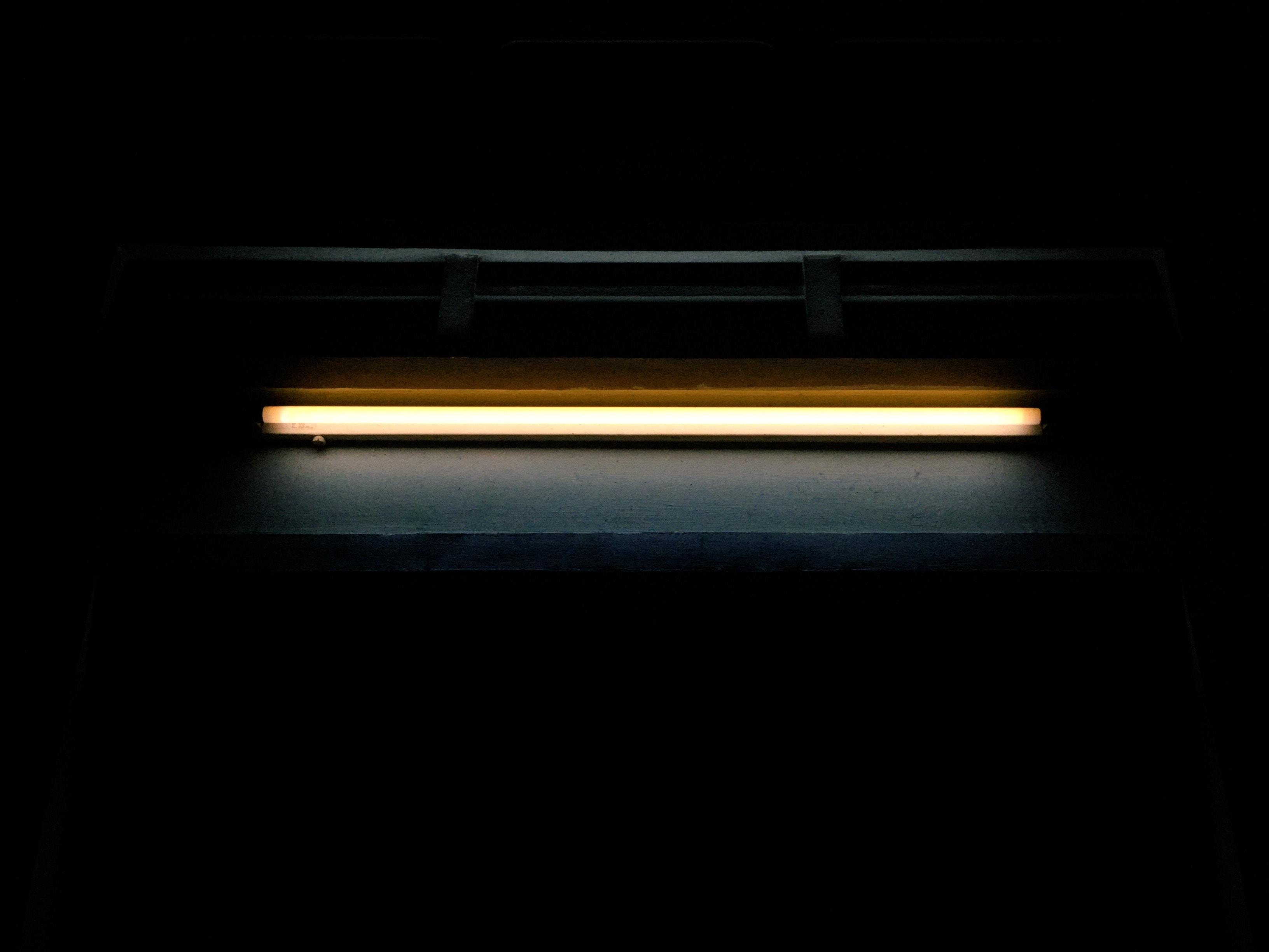 white fluorescent lamp