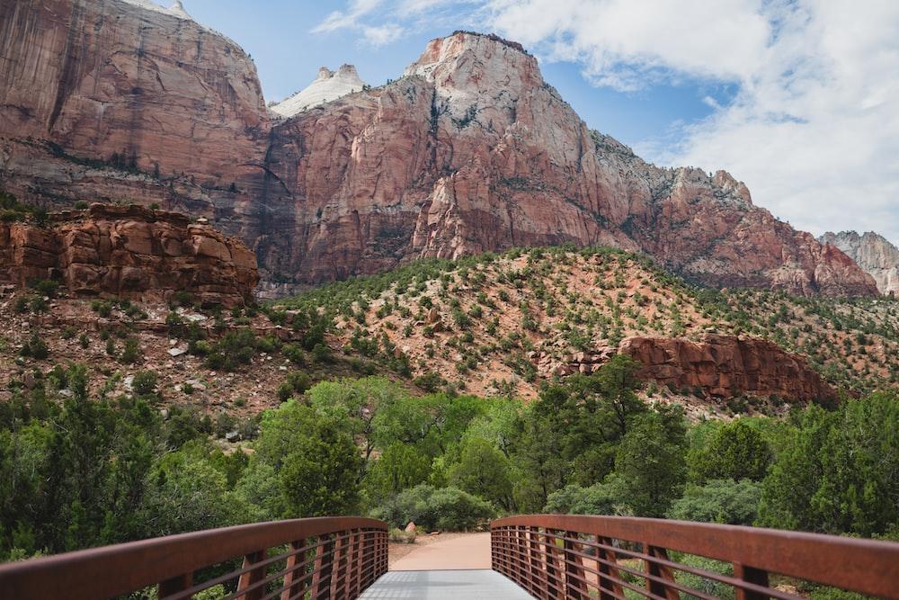 bridge through canyon
