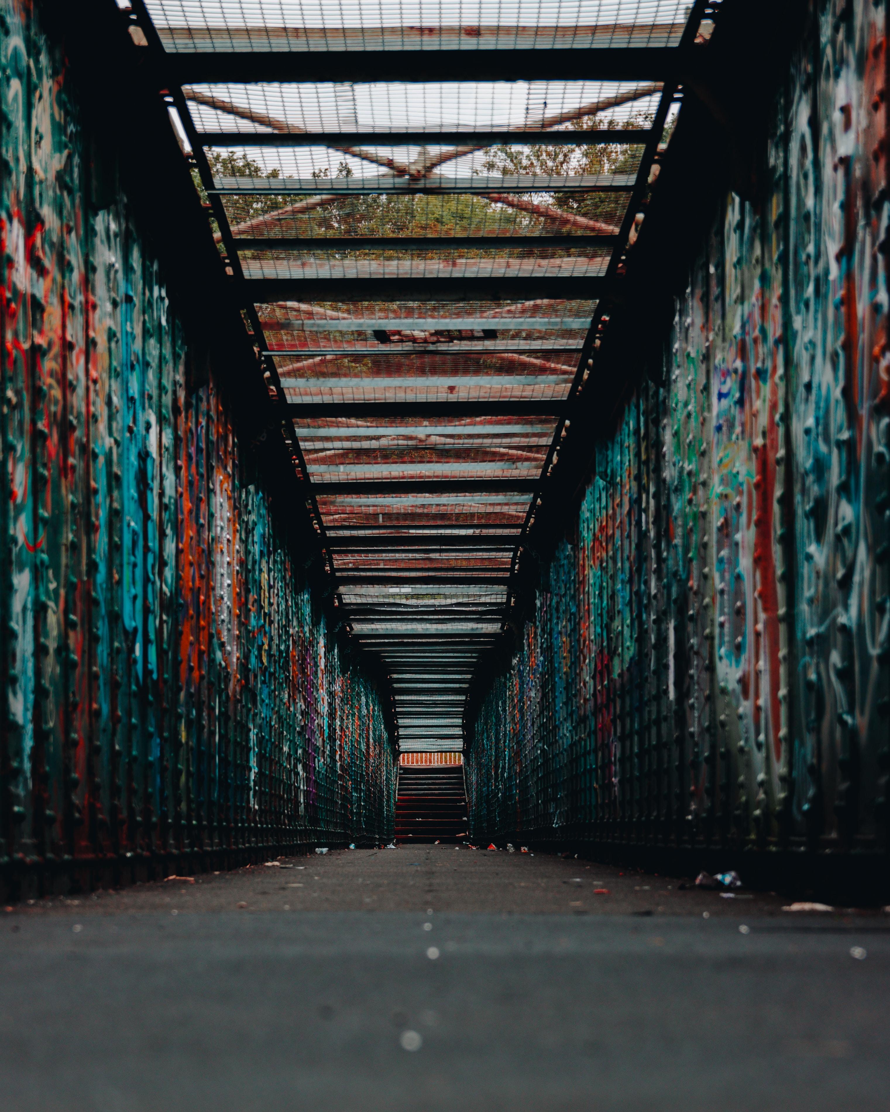 photo of multicolored alley
