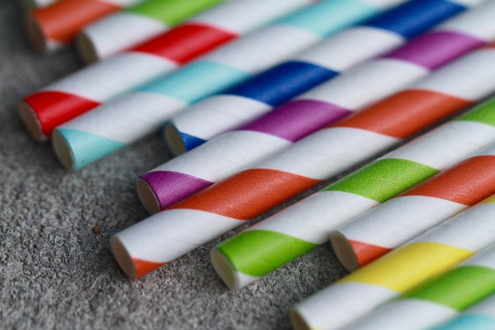 multicolored stick lot