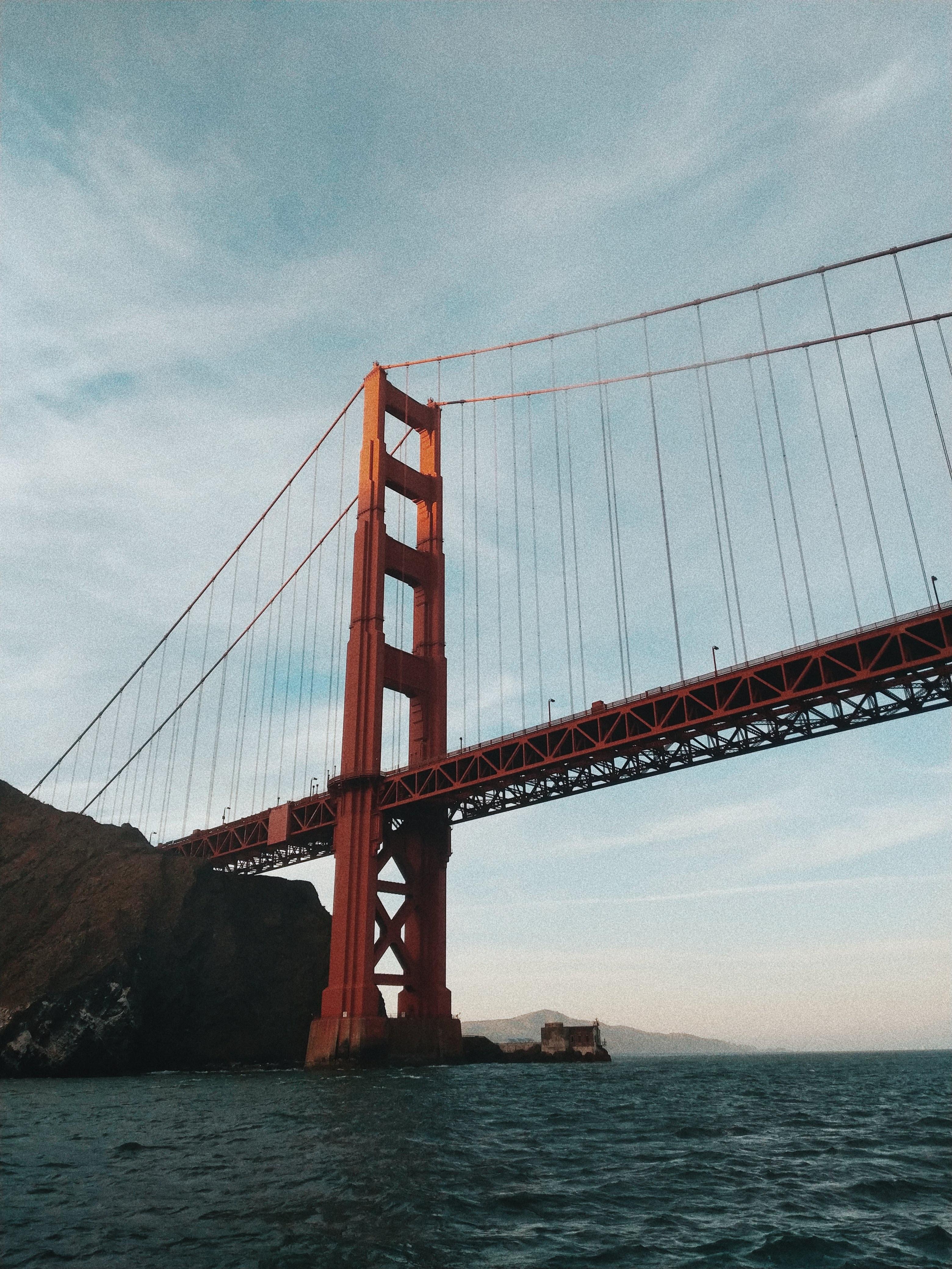 Golden Gate Bridge under blue sky