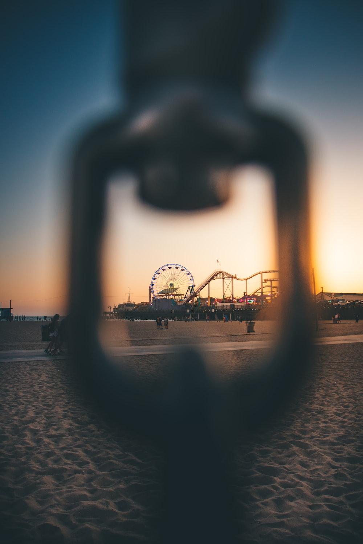 selective focus photography of Ferris Wheel