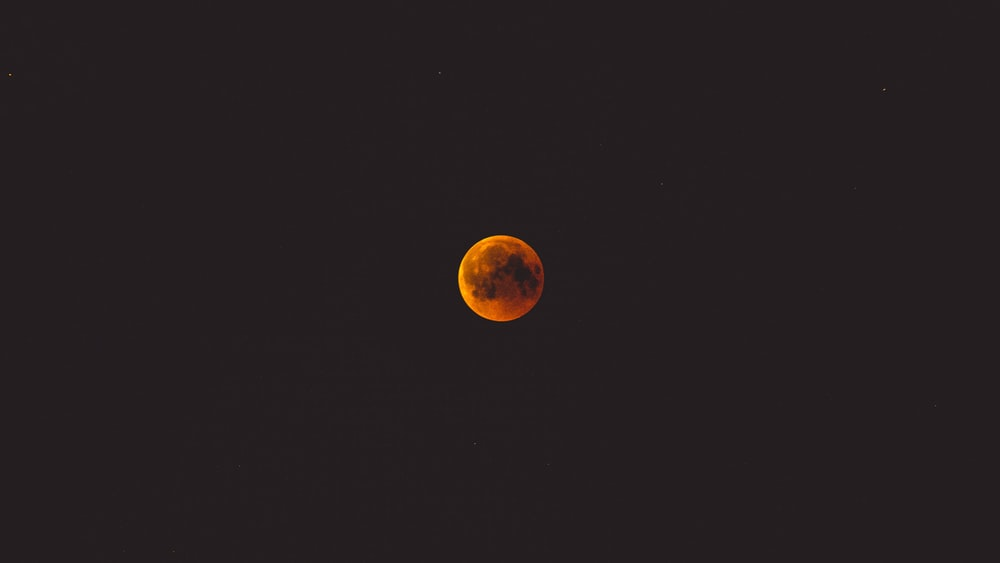 photo of red moon