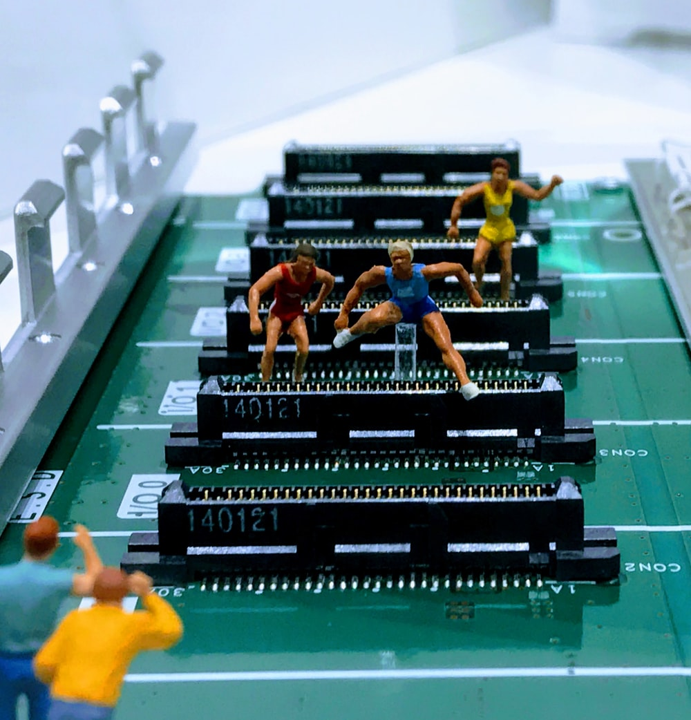 close-up photo of computer booard