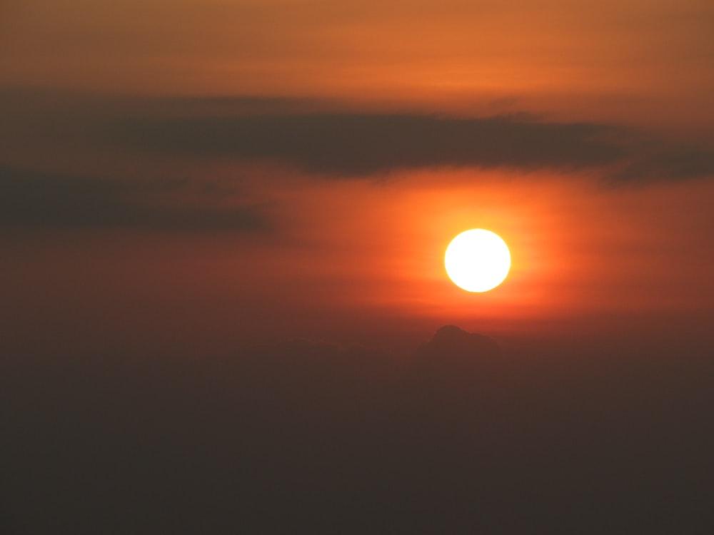 sun on cloudy sky