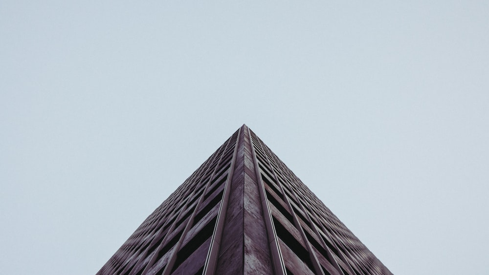 low angle photography gray concrete building