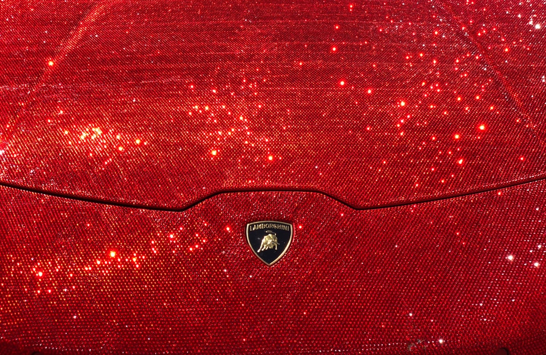 A Huracan covered in over 1,000,000 Swarovski crystals, parked in Chelsea