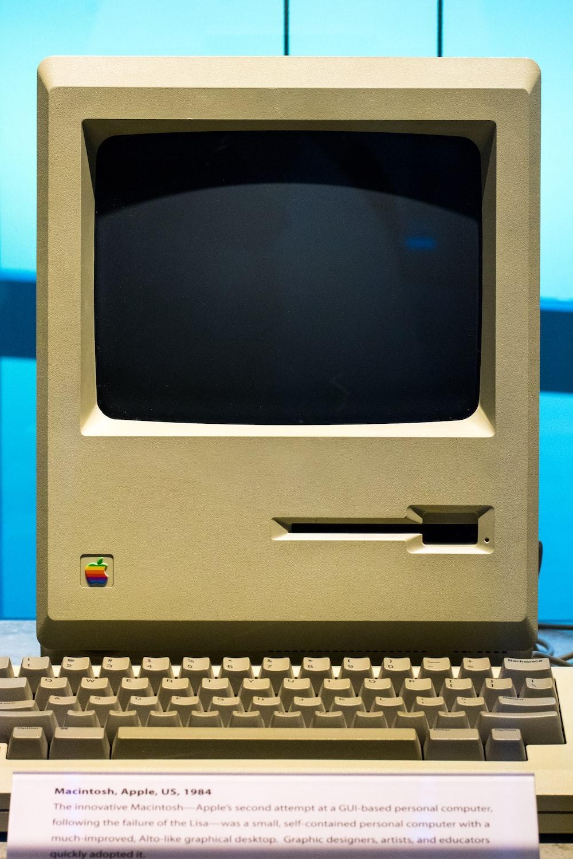 turned off Macintosh monitor