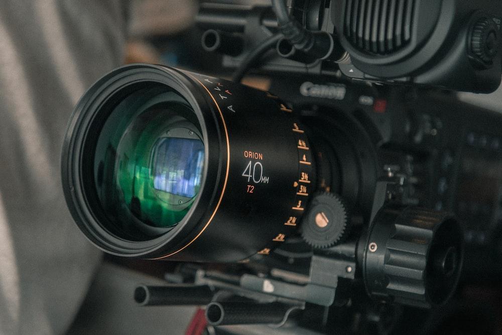 shallow focus photo of camera