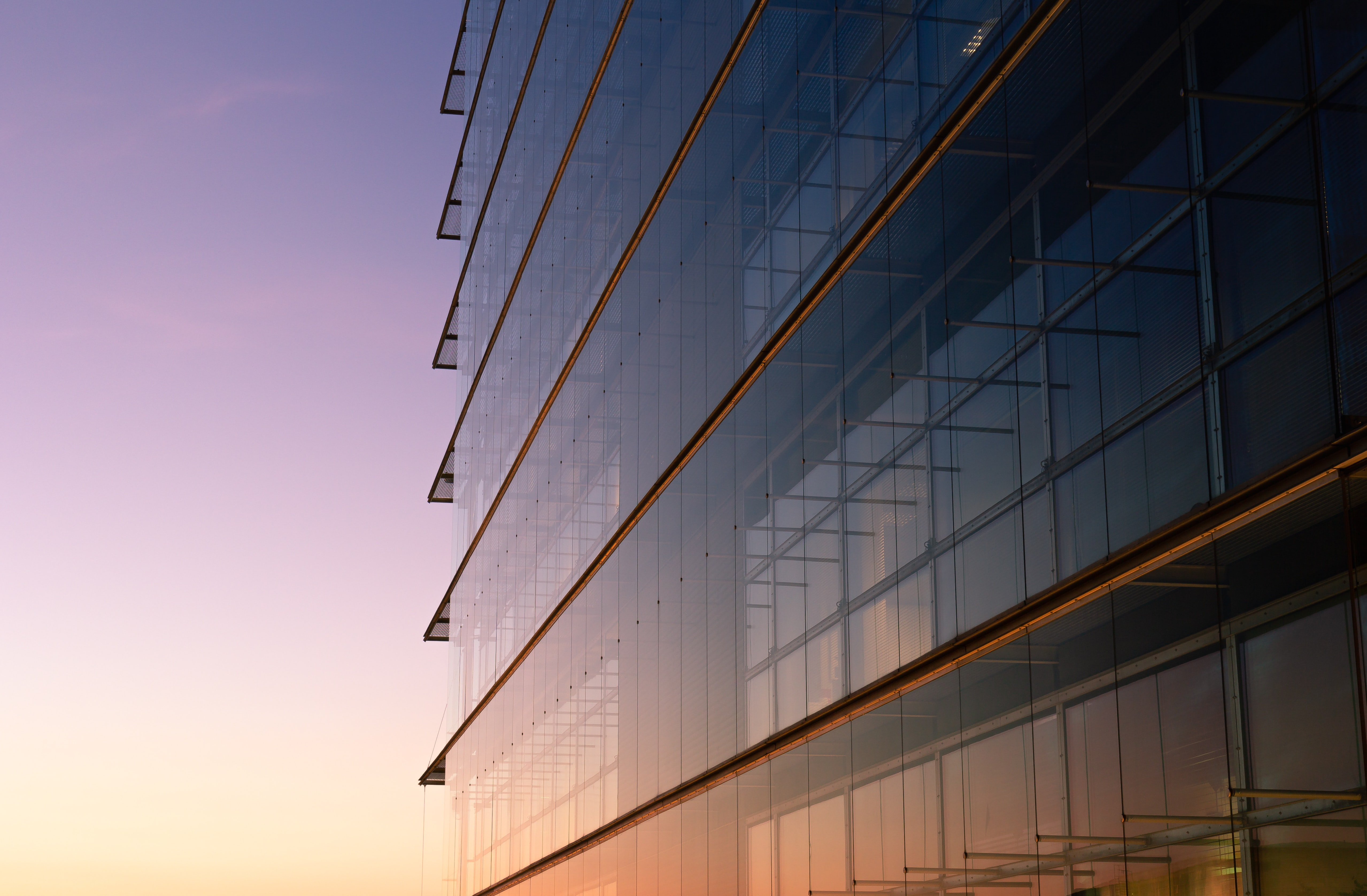 photography of ]glass building