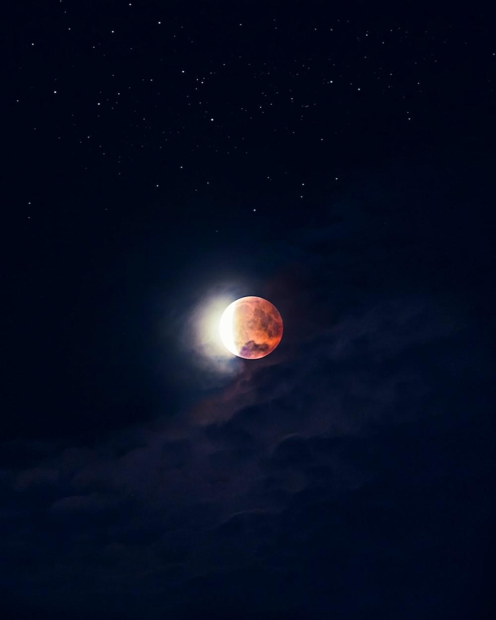 lunar eclipse digital wallpaper