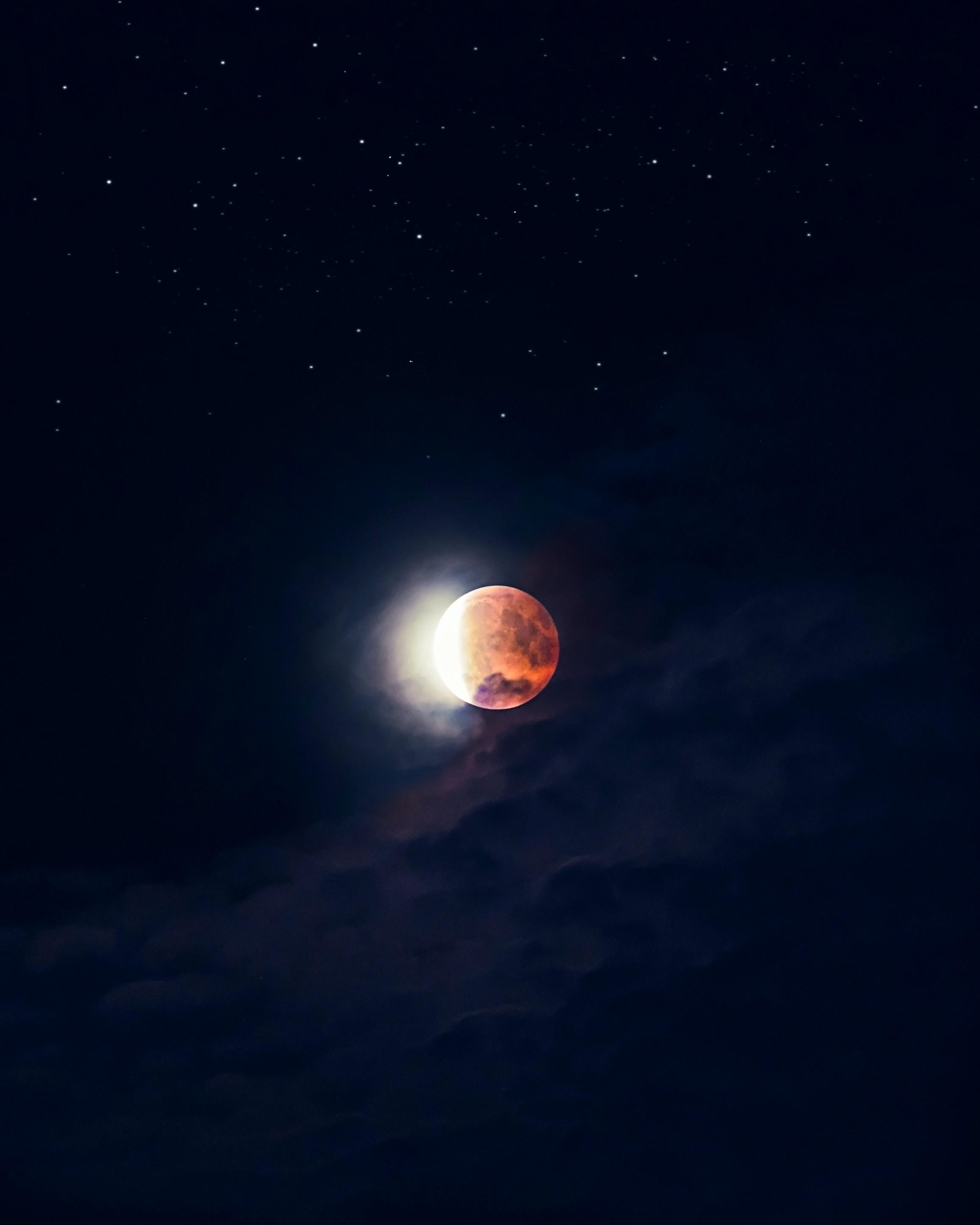 Marvelous Lunar Eclipse Digital Wallpaper