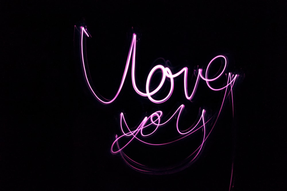 pink lovey you text