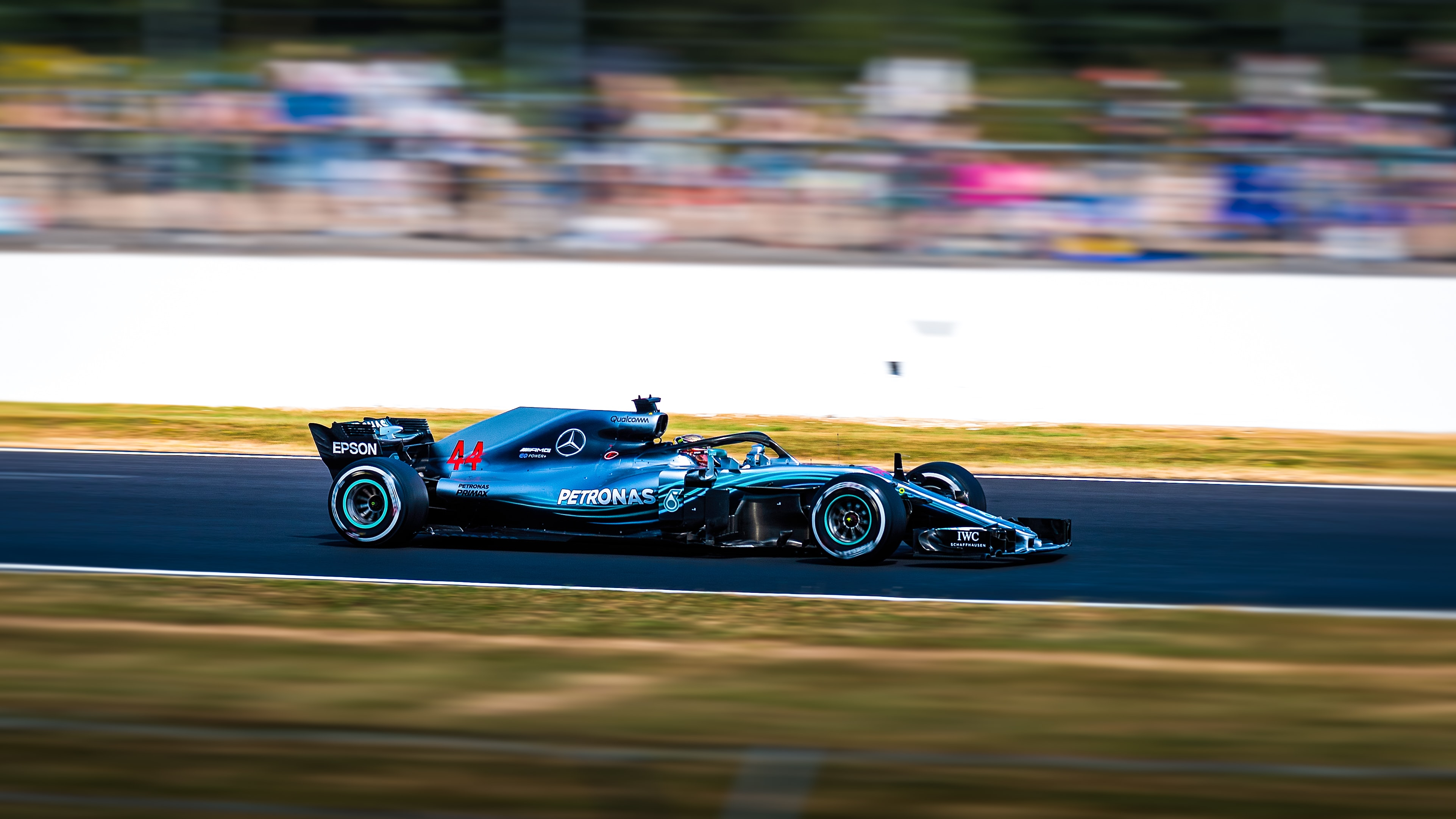 blue F1 racing car