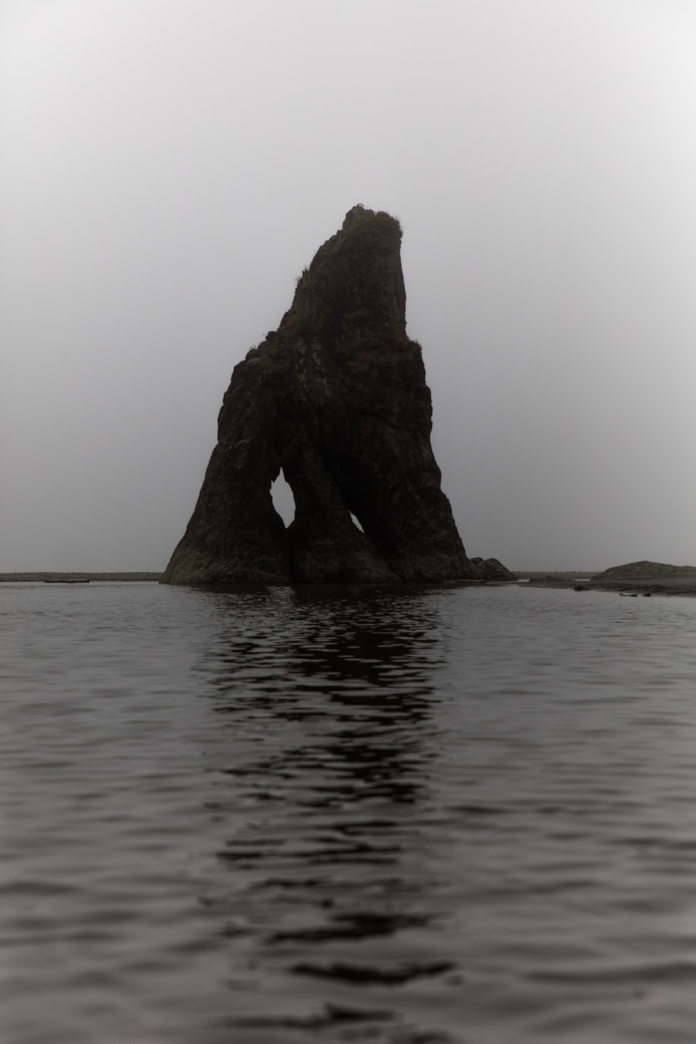 rock formation on body water