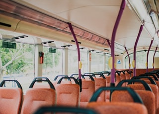brown padded bus chairs