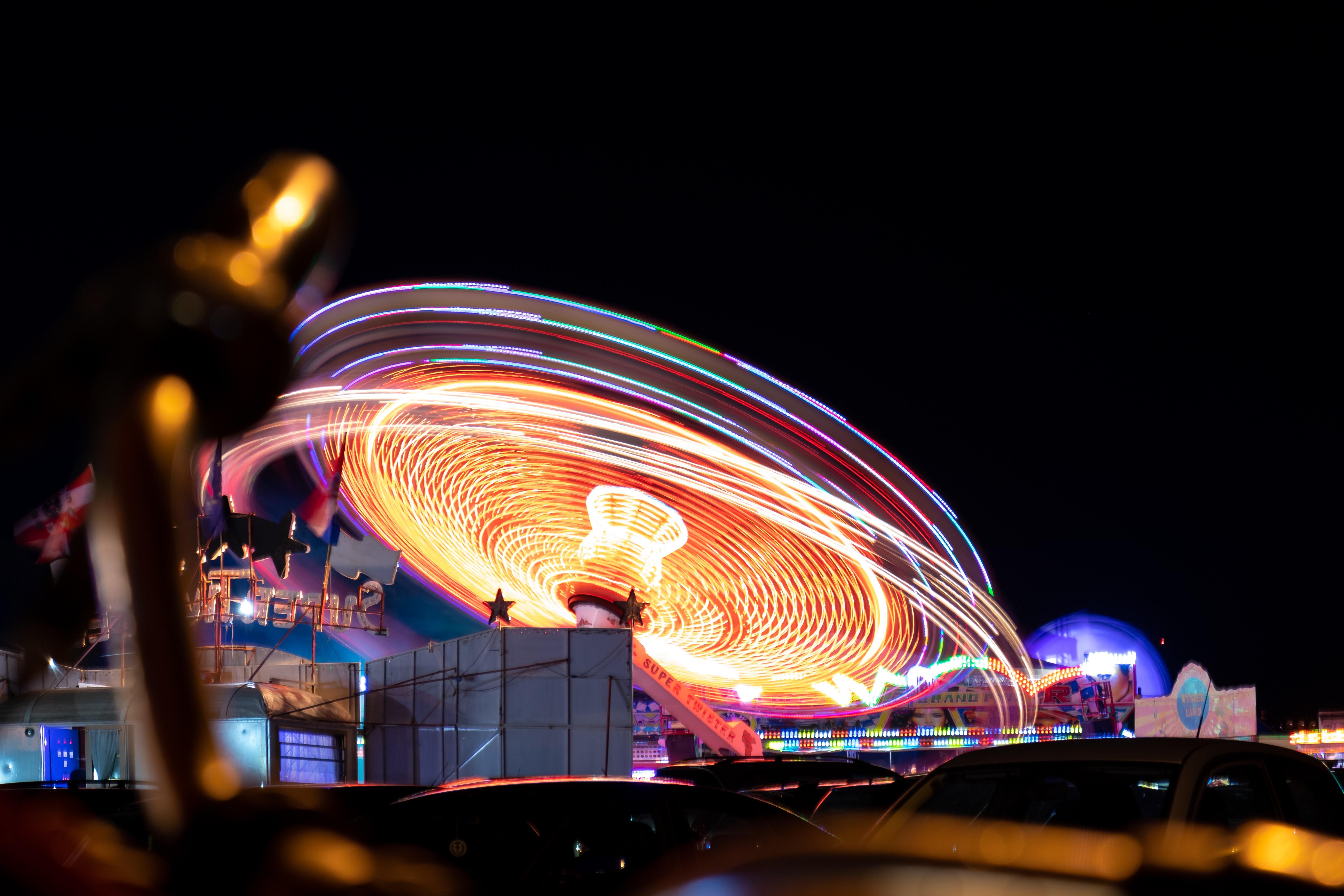 turned on lights on carnival