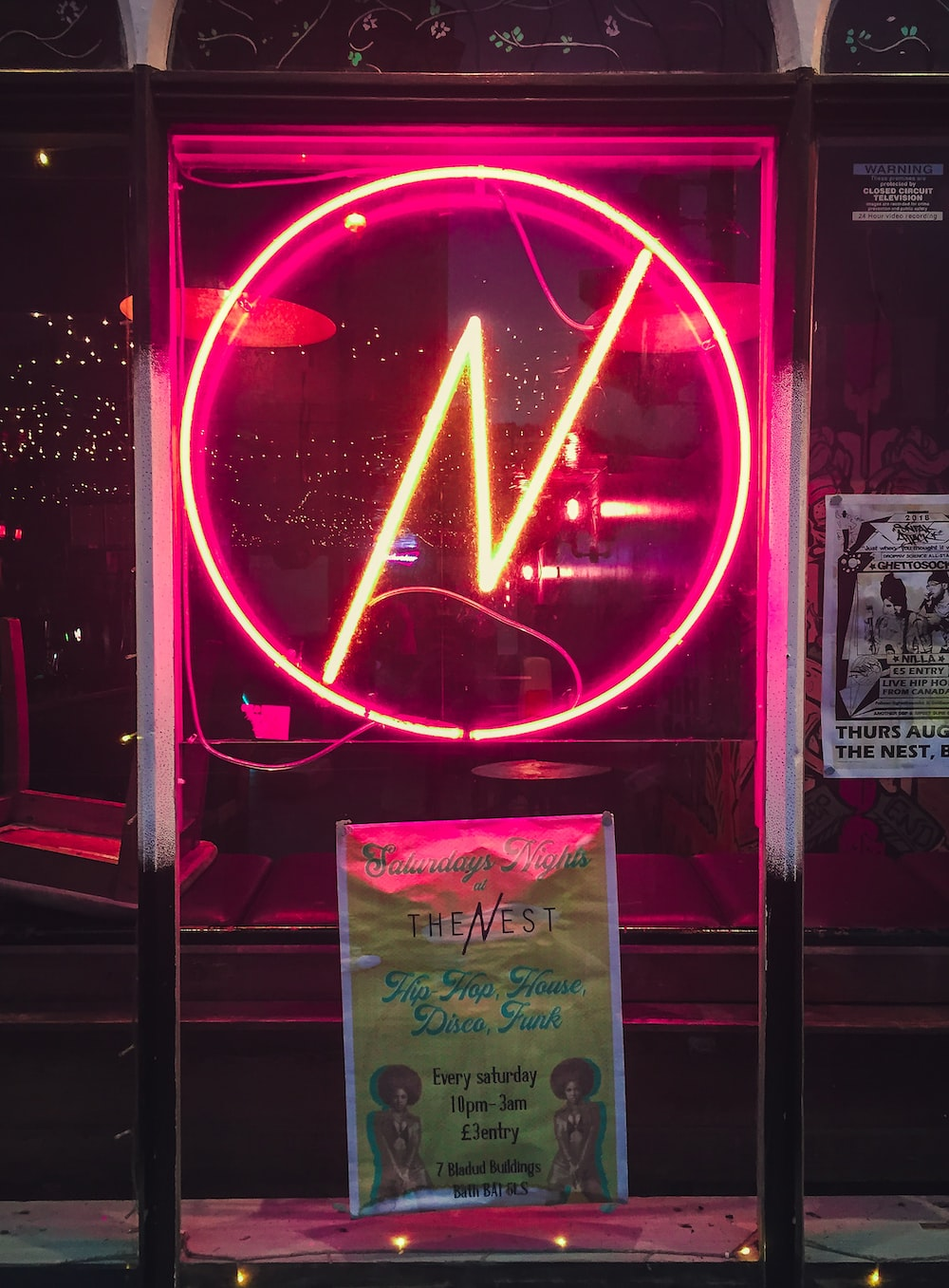 red neon lighted signage