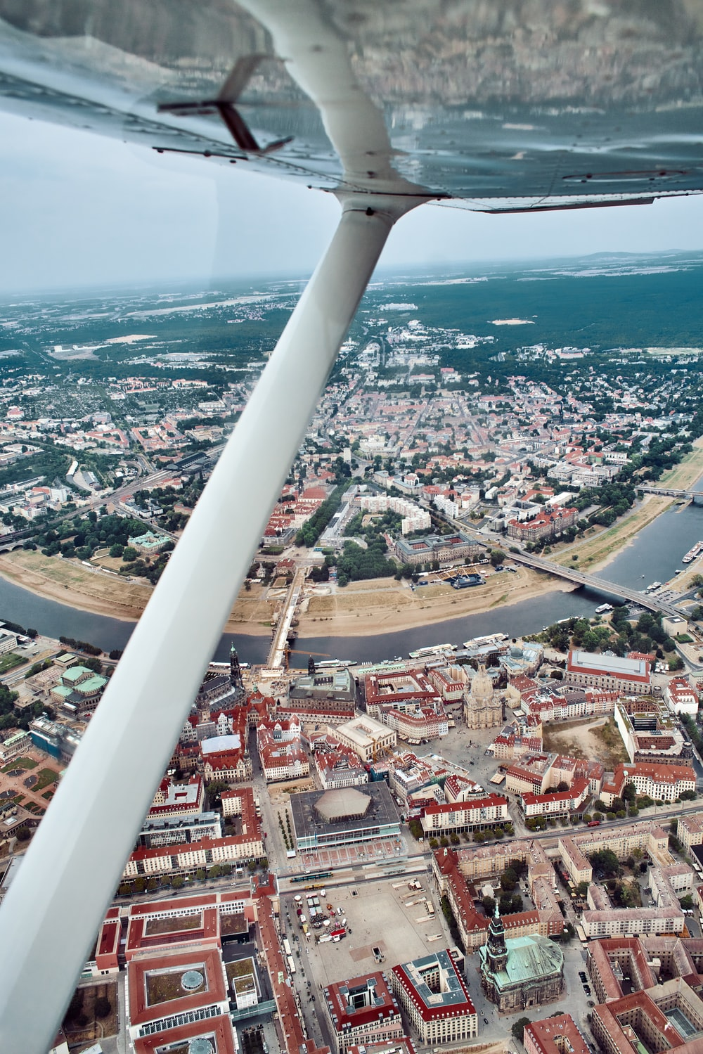aerial photography of city near water