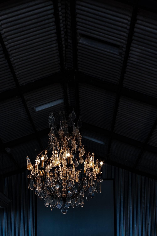 clear crystal uplight chandelier
