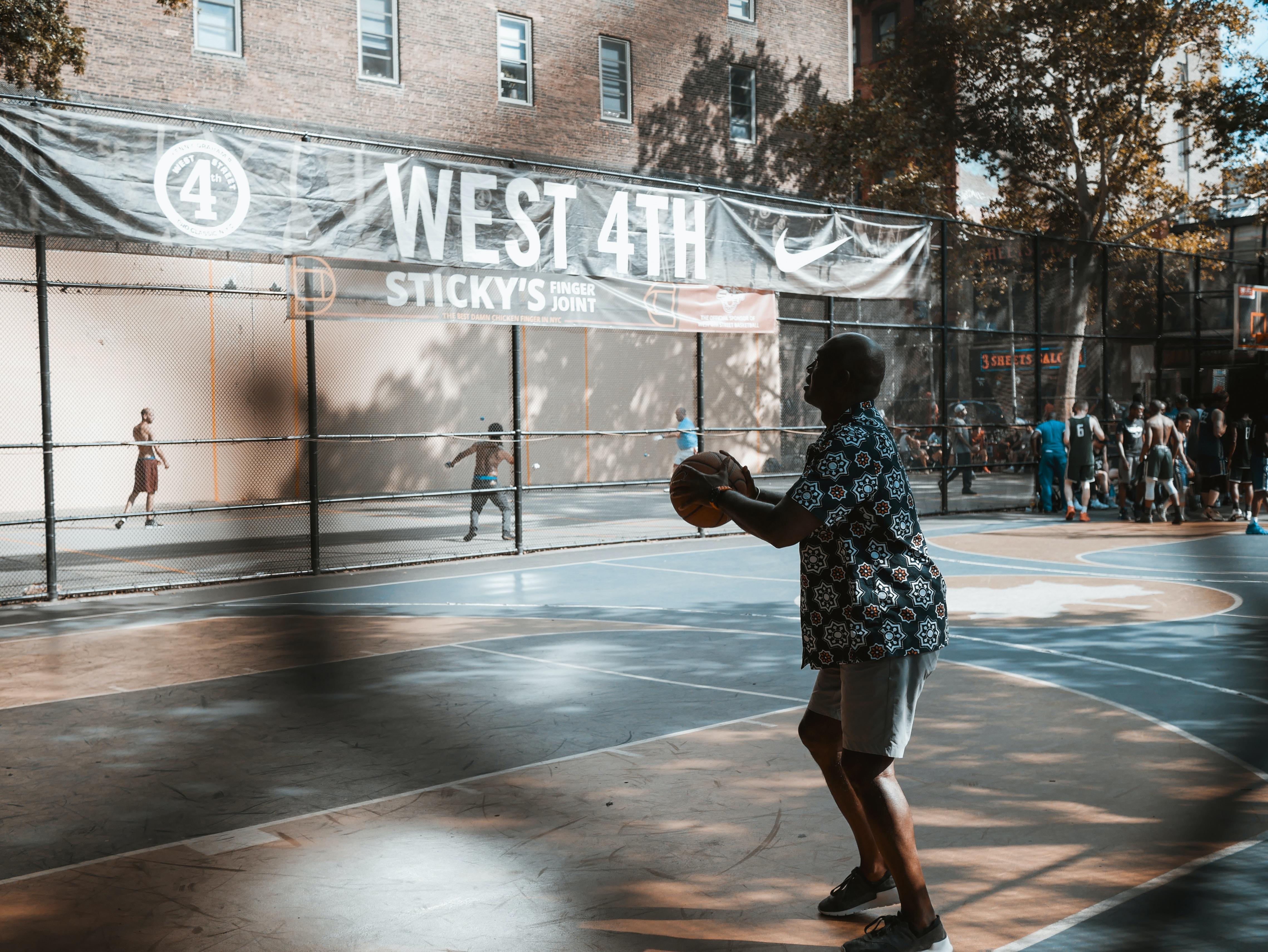 man holding ball on court