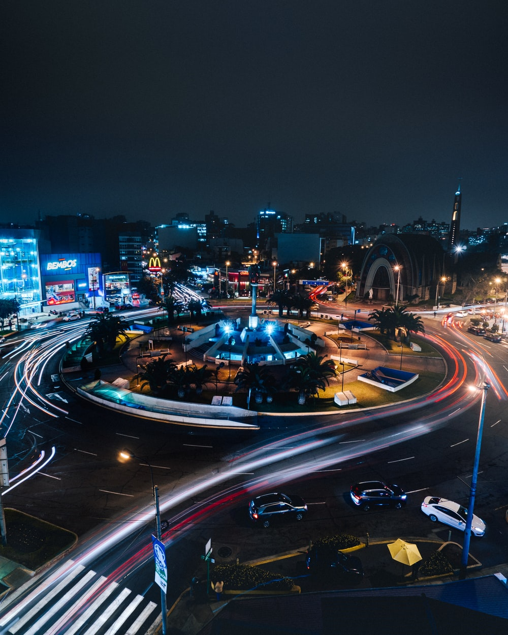 time lapse photo of road during night