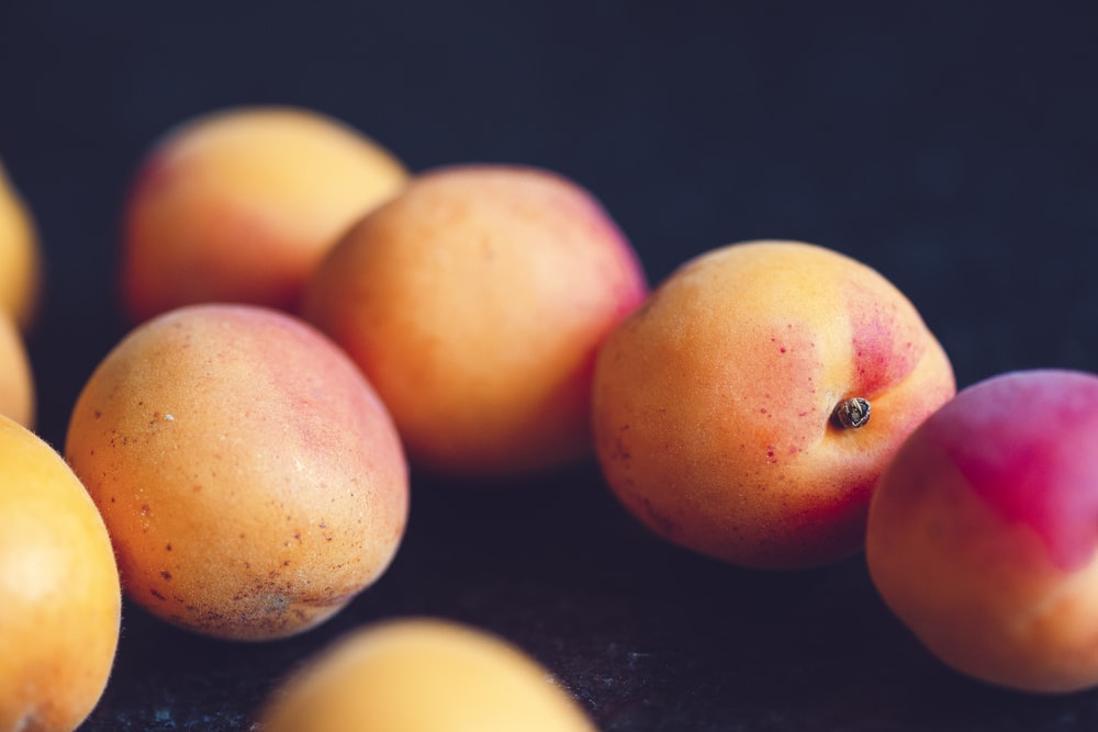 orange and red peaches