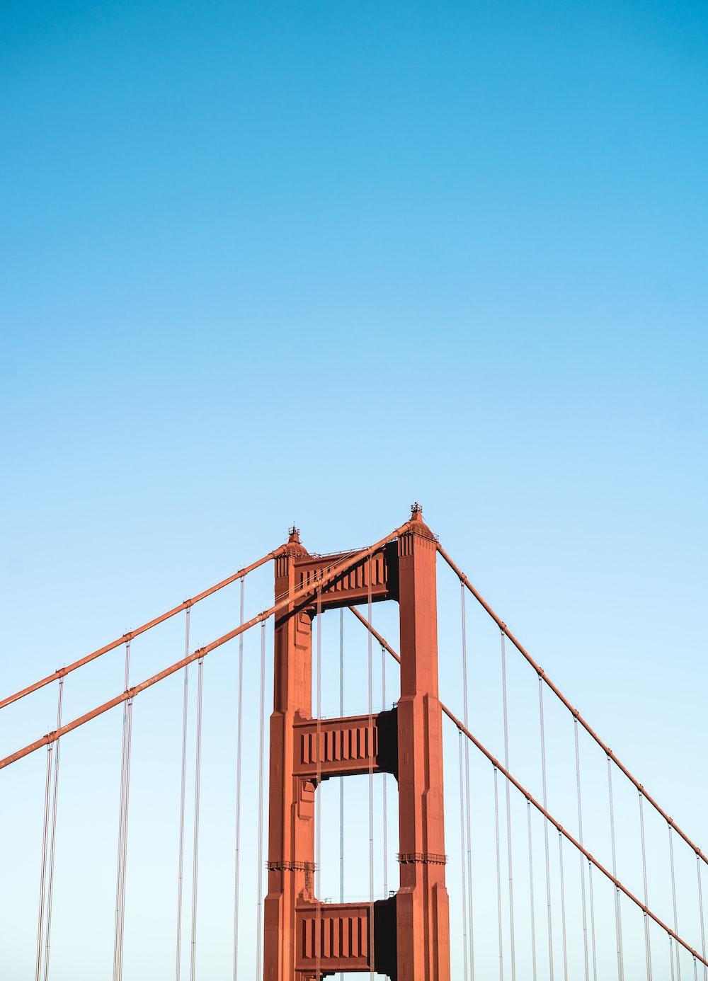 Golden Gate Bridge of San Francisco under calm blue sky