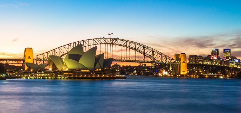 Sydney Opera near bridge