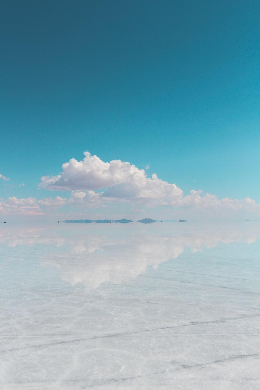 white clouds under blue sky