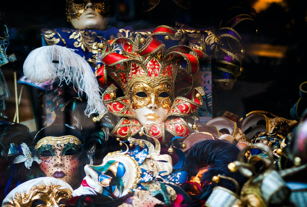 assorted-color masquerade mask collection