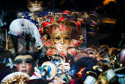 Shot this through a shop window in Barcelona. They had marvellous masks on display and the chaotic arrangement fascinated me.