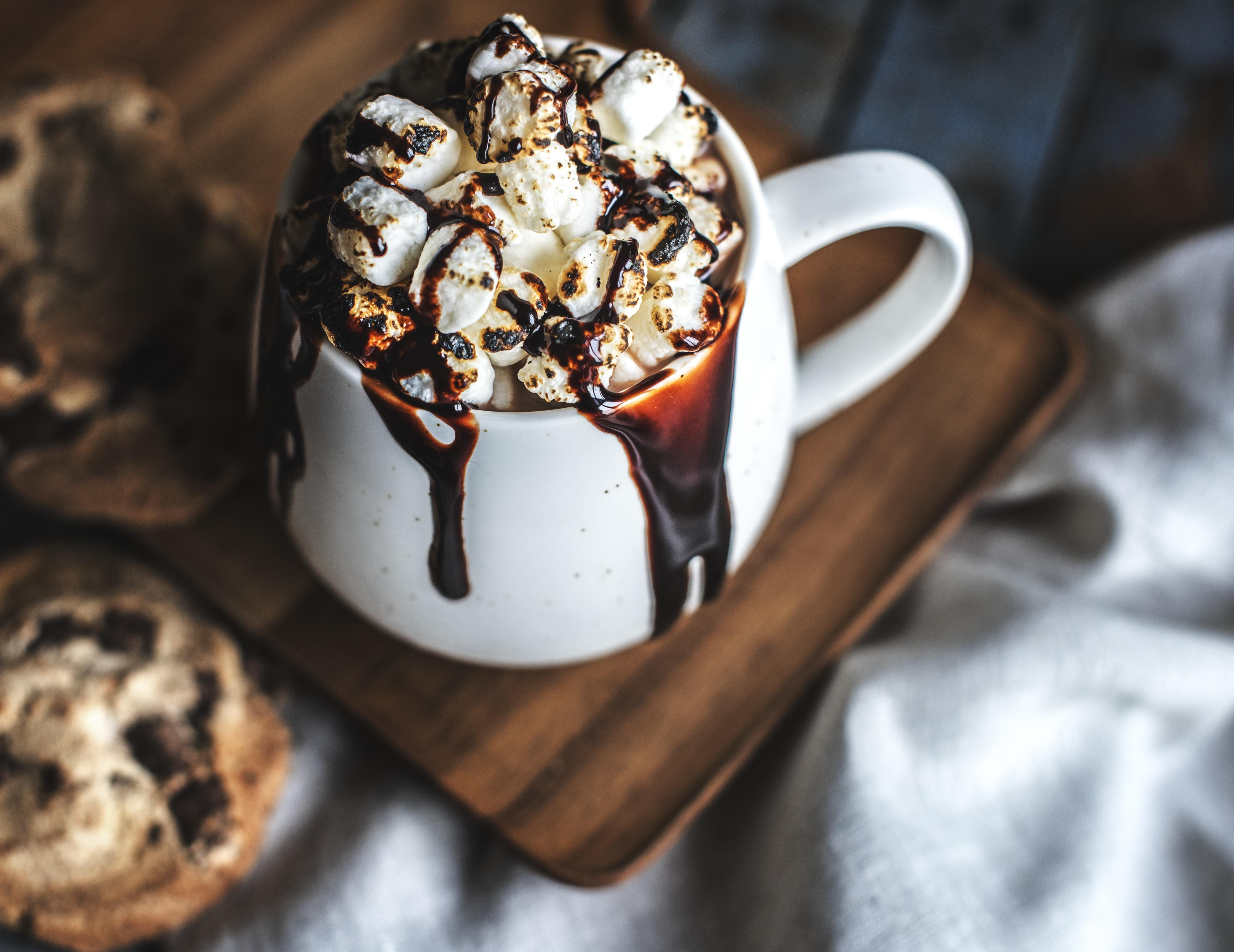 dessert on ceramic cup