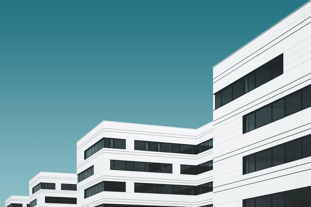 white concrete building illustration