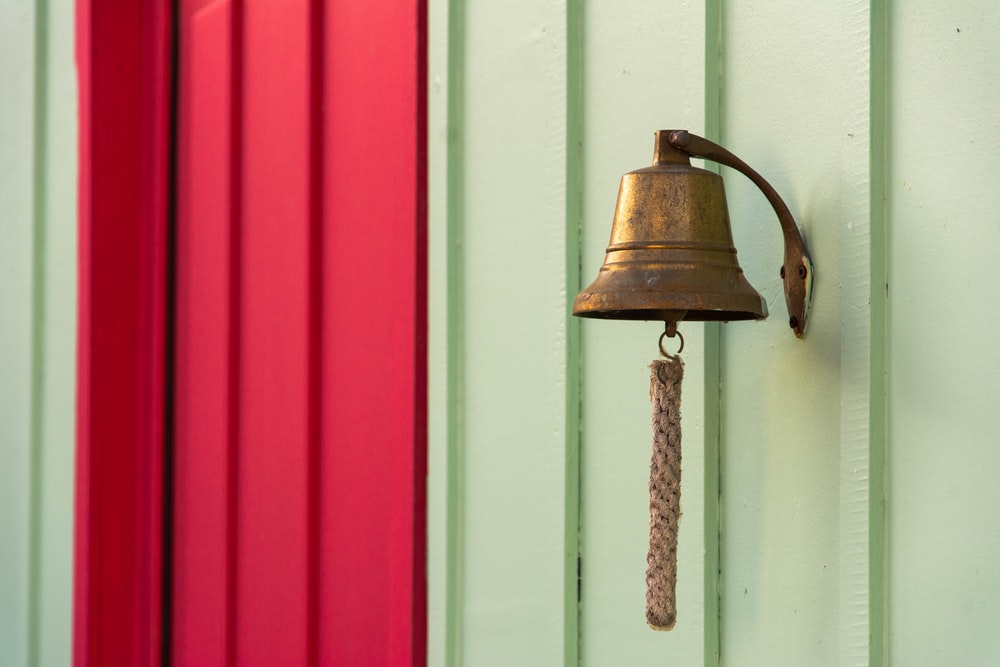 brown steel bell