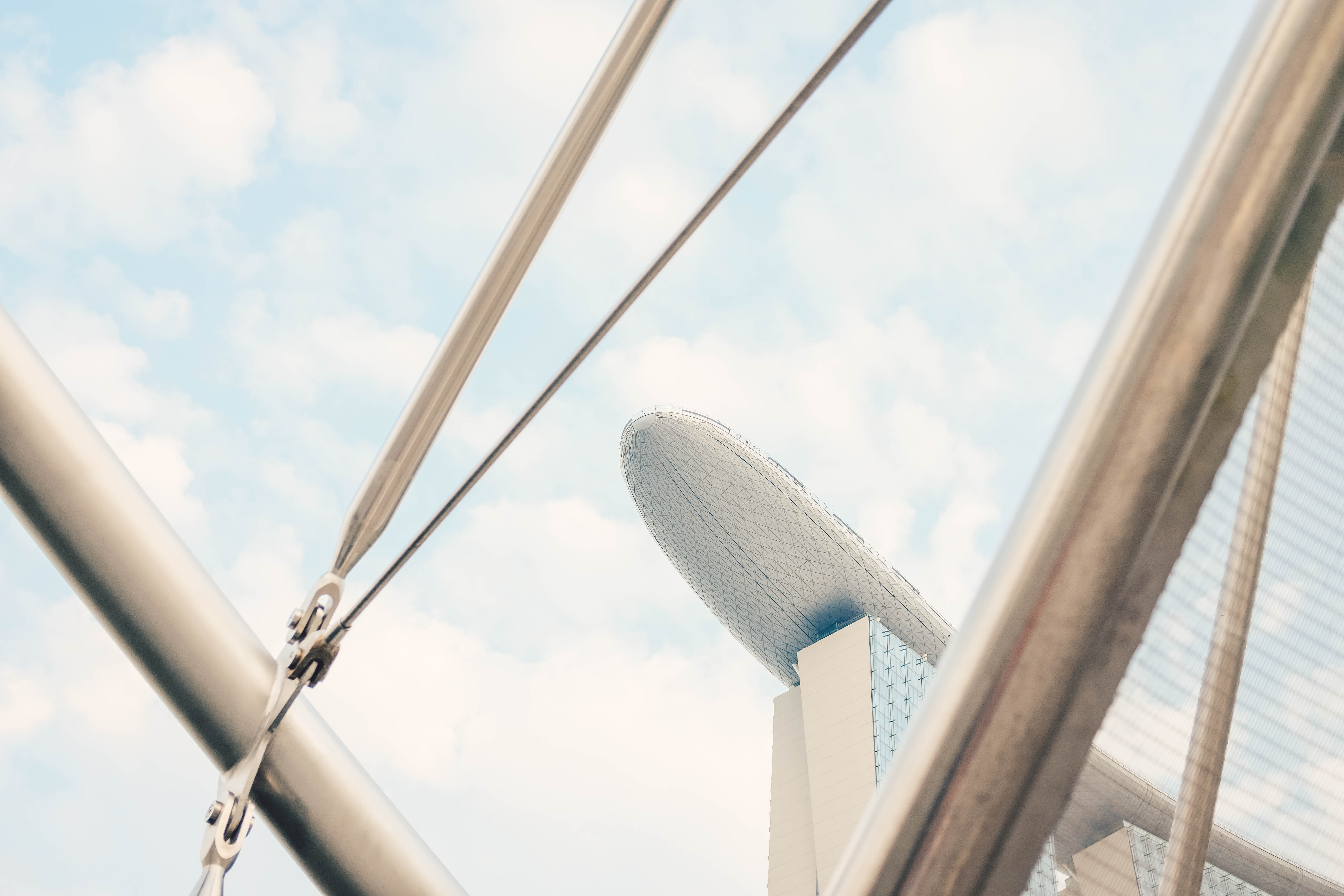 low angle photography of Marina Bay Sands, Singapore