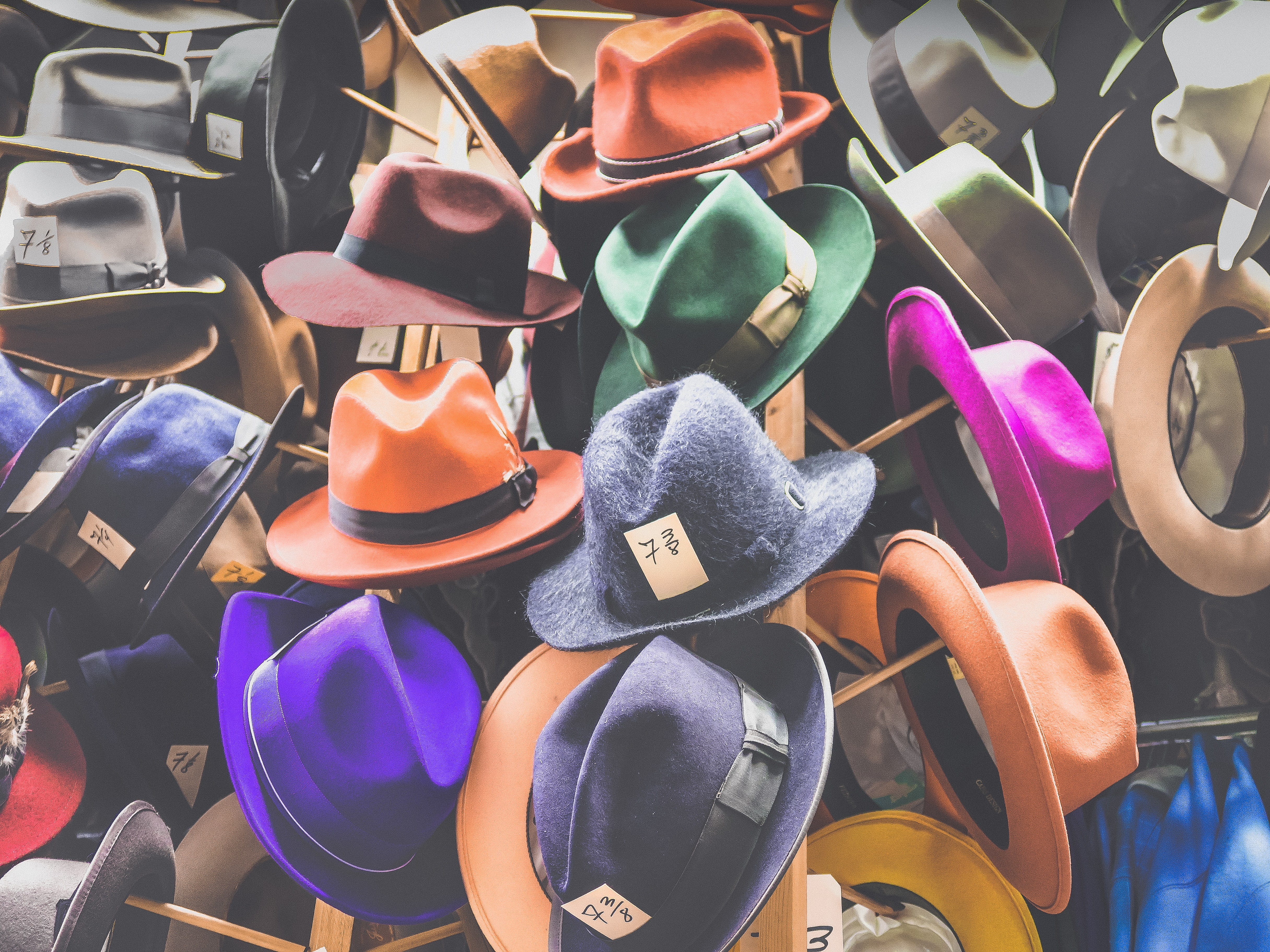 assorted fedora hat lot