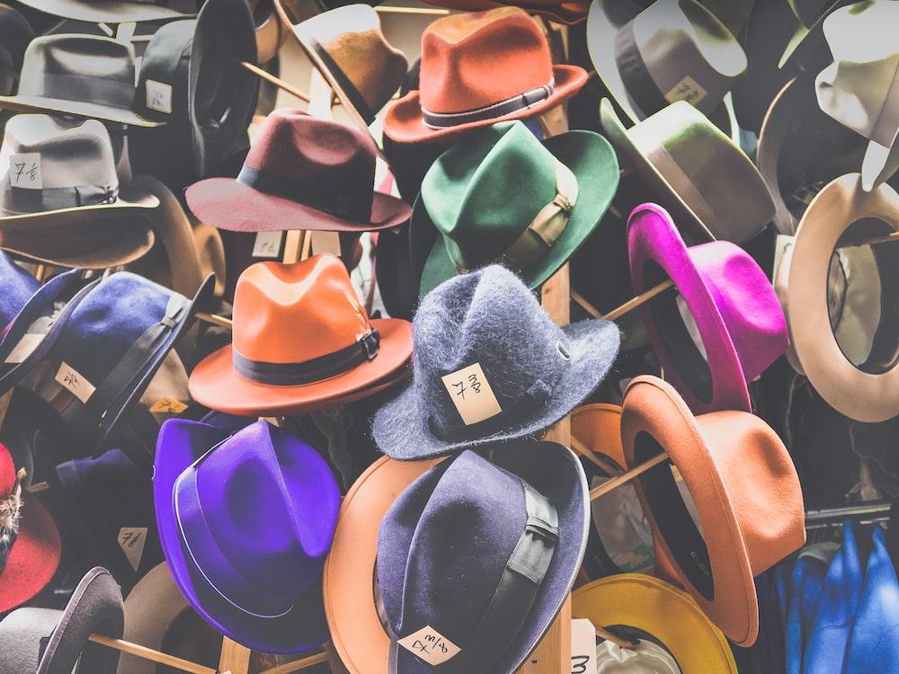 assorted fedora hat lot